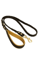 Fashion Braided Leather Dog Leash with Padded Handle