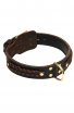 Braided Extra Wide 2 ply Leather Dog Collar for Large Dog Breeds