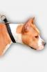 Amstaff 2 Ply Leather Choke Dog Collar with Braids