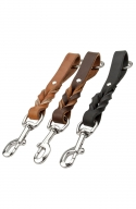 Short Dog Leash with Braids and Stainless Steel Snap Hook