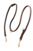 Universal Leather Dog Leash with Short Braids