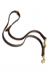 Multimode Leather Dog Leash with Two Snap Hooks