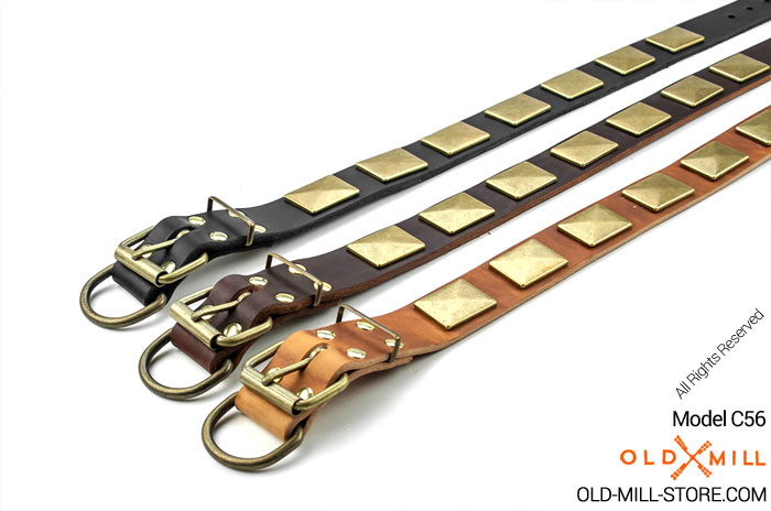Handmade Dog Collar. Available colors: Black, Brown, Tan